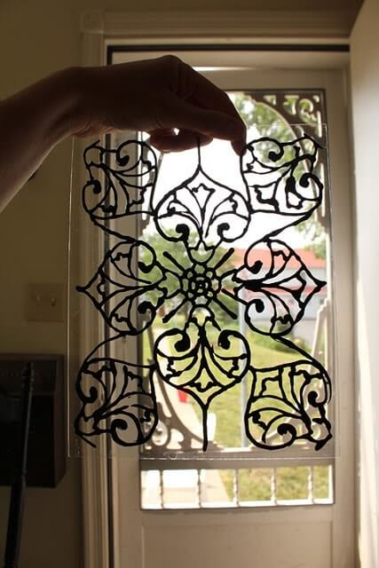 DIY stainted glass