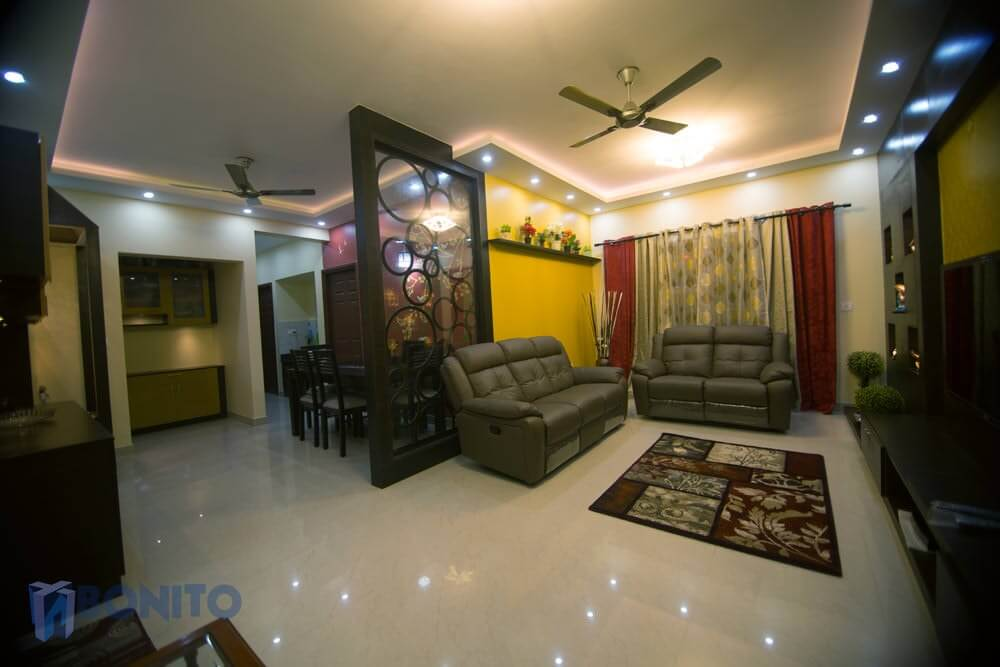 Mr pankaj shukla s 3bhk apartment bonito designs - Apartment interiors in bangalore ...
